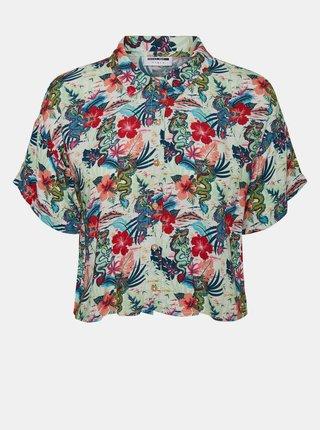 Modrá květovaná košile Noisy May Chin