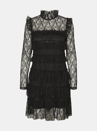 Čierne krajkové šaty Noisy May Nadine