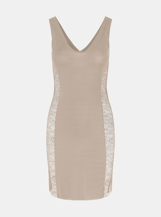Krémové tvarovacie šaty Pieces Ella