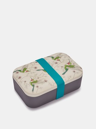 Krémovo-šedá bambusová krabička na desiatu Cooksmart