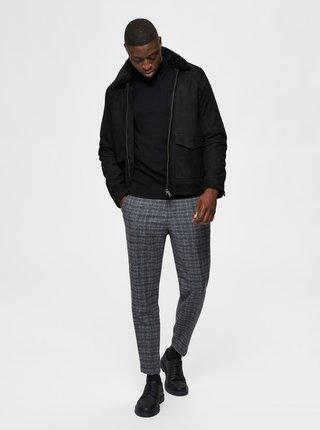 Šedé nohavice s prímesou vlny Selected Homme
