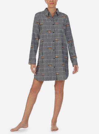 Šedá vzorovaná nočná košeľa DKNY