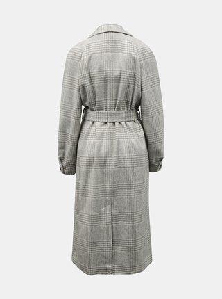 Šedý kctkovaný kabát Dorothy Perkins