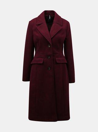 Vínový kabát Dorothy Perkins