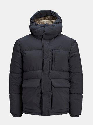 Tmavomodrá zimná prešívaná bunda Jack & Jones