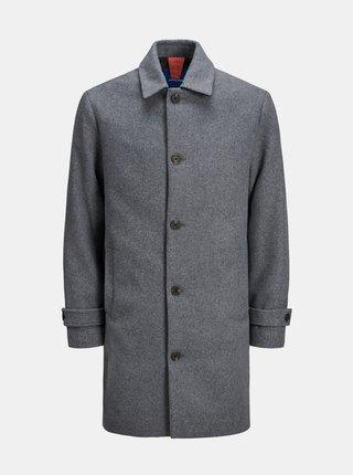 Šedý kabát s příměsí vlny Jack & Jones