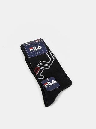 Sada dvoch párov čiernych dámskych ponožiek FILA