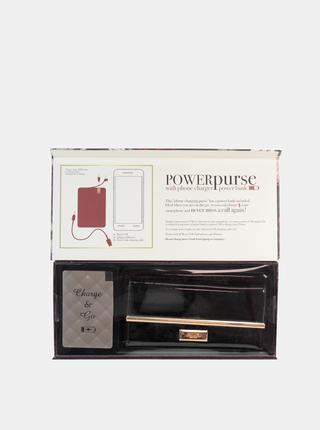 Černá dámská peněženka s powerbankou Something Special