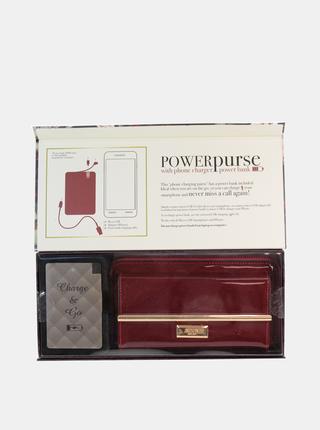 Vínová dámská peněženka s powerbankou Something Special