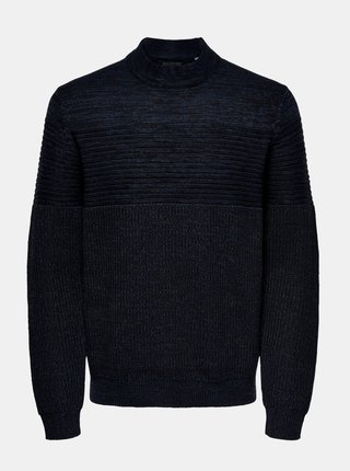 Čierno-modrý sveter ONLY & SONS