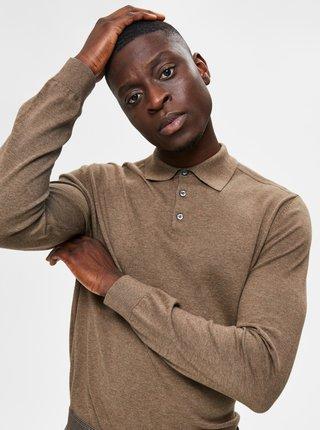 Hnedý sveter s limcom Selected Homme