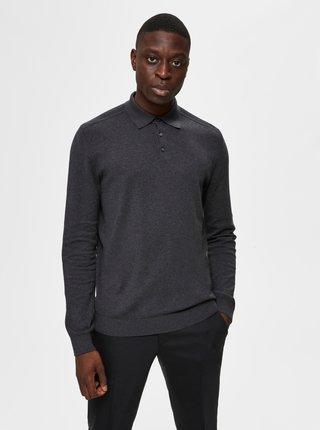 Šedý svetr s límečkem Selected Homme