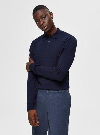 Modrý sveter s limcom Selected Homme