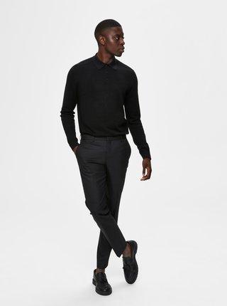 Čierny pánsky sveter s limcom Selected Homme