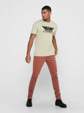 Béžové tričko ONLY & SONS