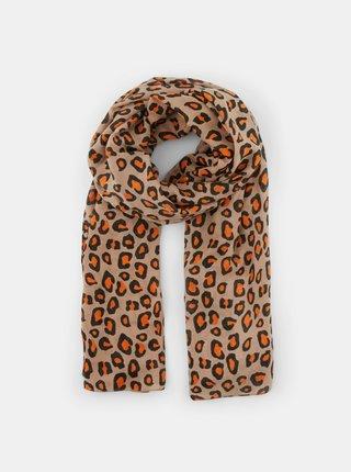 Béžová šatka s leopardím vzorom Pieces Avonja