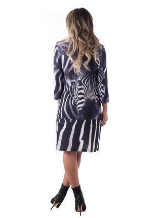 Culito from Spain černé šaty Zebra