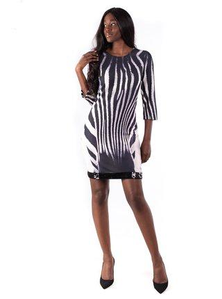 Culito from Spain černo-bílé šaty Zebra