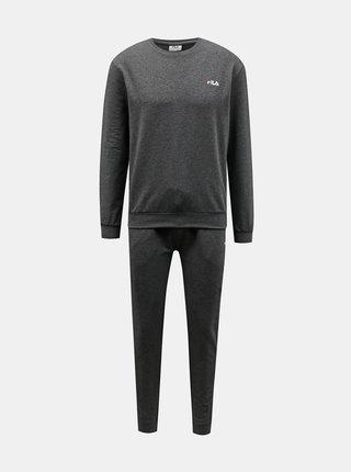 Tmavě šedé pánské pyžamo FILA