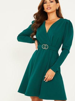 Zelené šaty s opaskom QUIZ