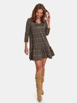 Hnedé kárované šaty TOP SECRET