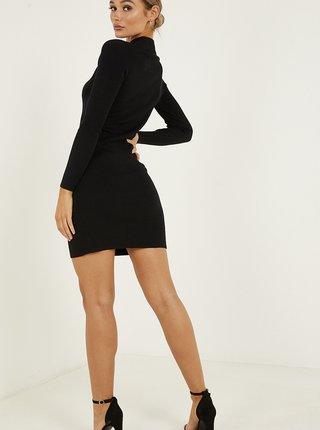 Černé pouzdrové svetrové šaty QUIZ