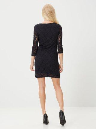 Černé pouzdrové krajkové šaty VERO MODA