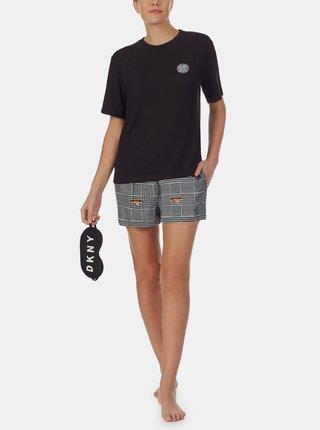 Čierne vzorované pyžamo DKNY