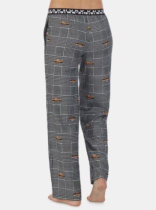Šedé vzorované pyžamové nohavice DKNY
