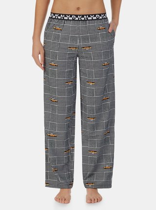 Šedé vzorované pyžamové kalhoty DKNY