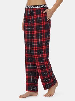 Červené kostkované pyžamové kalhoty DKNY