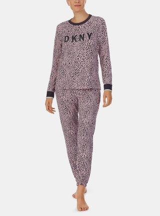 Ružové vzorované pyžamo DKNY