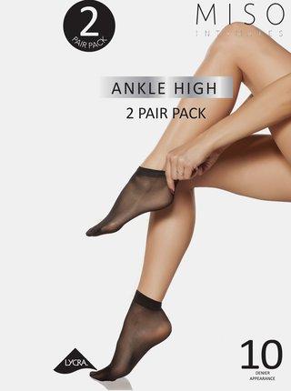 Sada dvoch párov telových silonkových ponožiek Something Special