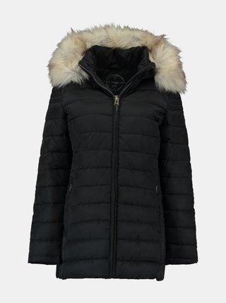 Černá zimní prošívaná bunda Hailys