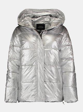 Zimná prešívaná bunda v striebornej farbe Hailys