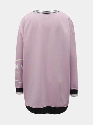 Ružová dlhá mikina DKNY