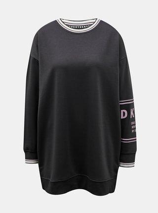 Čierna dlhá mikina DKNY