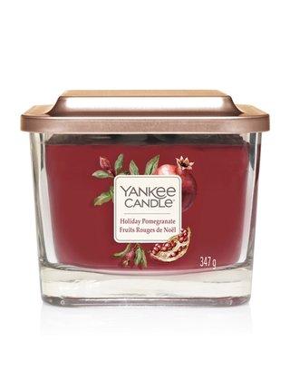 Yankee Candle vonná svíčka Elevation Holiday Pomegranate hranatá střední 3 knoty