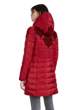 Desigual červený kabát Padded Lena
