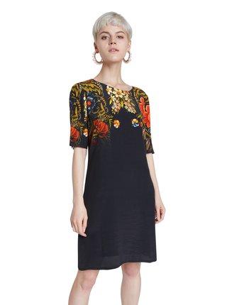 Desigual černé šaty Vest Butterflower