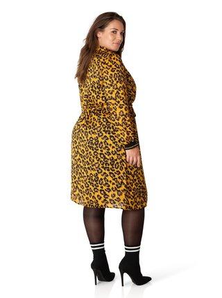 Yesta žluté šaty s leopardím vzorem Bea