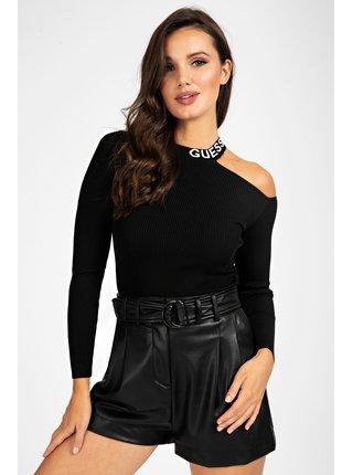 Guess černý svetr Cut-Out Sleeves