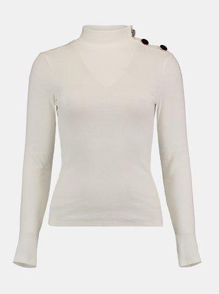 Biely sveter so stojáčikom Hailys