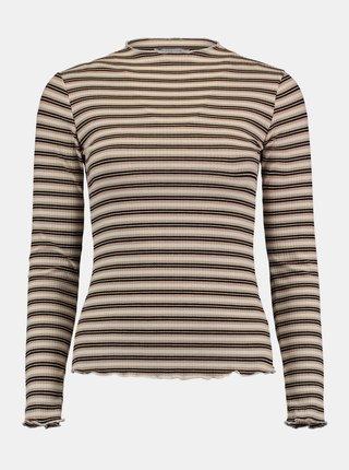 Béžové pruhované tričko Hailys