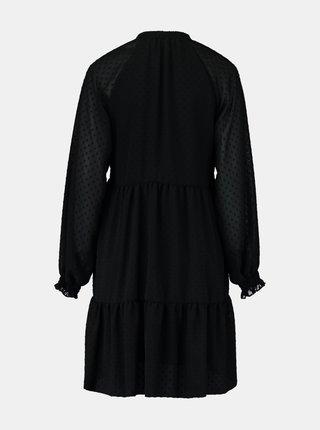 Čierne voľné šaty Hailys