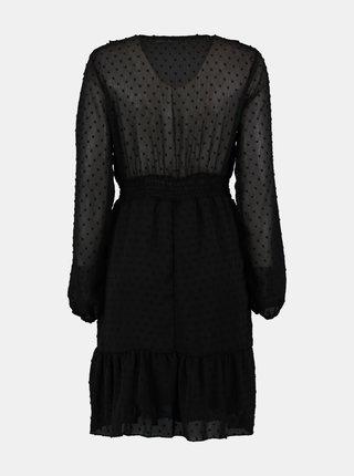 Čierne bodkované šaty Hailys