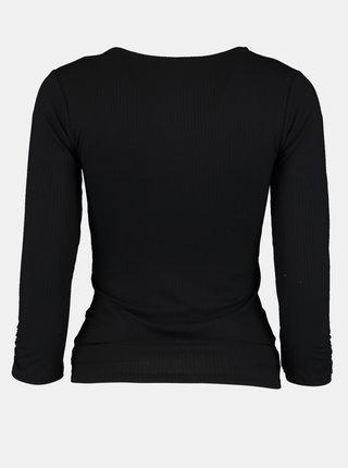 Černé tričko se stahováním Hailys