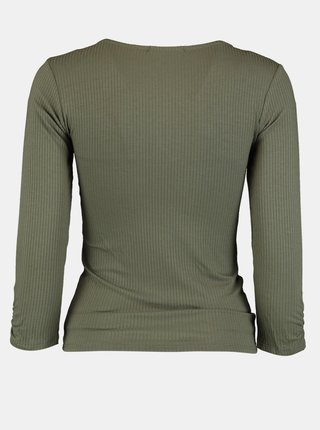Khaki tričko se stahováním Hailys