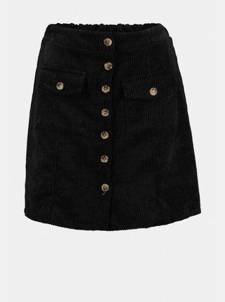 Černá manšestrová sukně Hailys