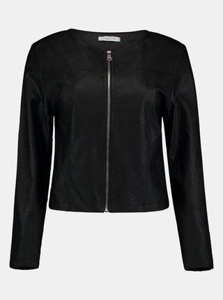 Černá koženková bunda Hailys